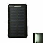 Ismartdigi 10LED 8000mAh 5V 2A Solar Charger Power Bank - Black