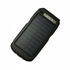 Ismartdigi 3LED SOS 8000mAh 5V 2A Power Bank w/ Solar Charge - Black