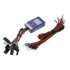 12-LED Lighting System Kit Smart Simulation Lights for 1/10 Drift Car