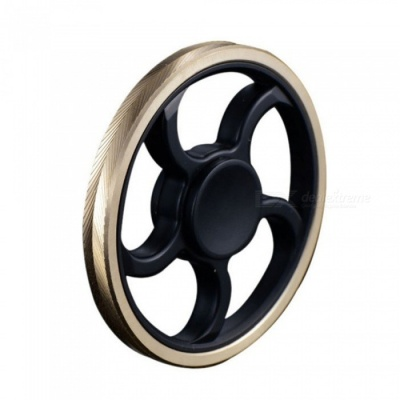 MAIKOU Five Leaves Hand Spinner Fidgets Fingertip Gyro -Black + Golden