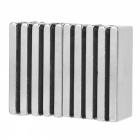 JEDX 40*10*4mm Rectangular Strong NdFeB Magnets - Silver (20PCS)