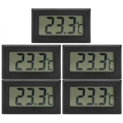 Digital Compact LCD Thermometers w/ Outdoor Remote Sensor (5 PCS)
