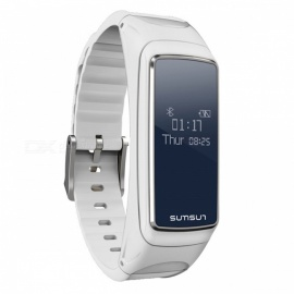 "B7 0.66"" OLED Waterproof Bluetooth V4.0 Smart Bracelet Watch - White"