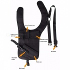 Nylon Tactical Hidden Kainalossa Shoulder Holster - Musta