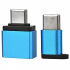 BSTUO USB to Type-C Adapter + Micro USB to Type-C Adapter - Blue