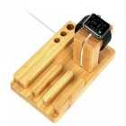 Bamboo Holder Stand Base for Smart Watch / Mobile Phone / Tablet