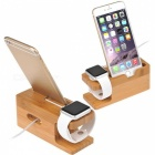 Support de station de charge Bamboo Wood pour APPLE Watch / IPHONE 7