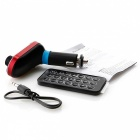 Bluetooth V2.1 Handsfree Car FM Transmitter - Black + Red