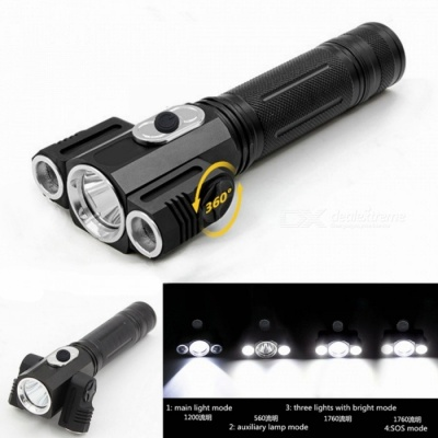 ZHISHUNJIA YH-6798 XM-L T6 3-LED 1500lm 4-Mode White Flashlight