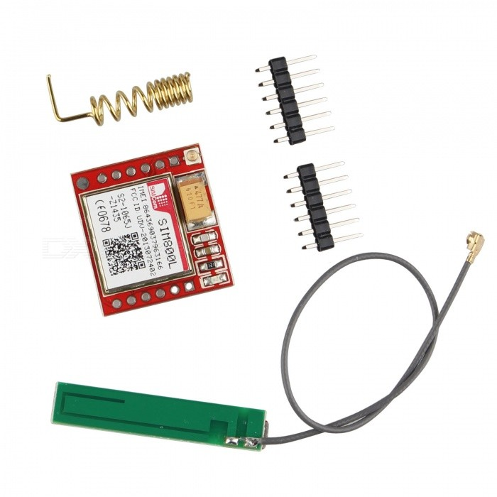 Hengjiaan SIM800L Quad-band Network GPRS GSM Breakout ModuleTransmitters &amp; Receivers Module<br>Form  ColorRed + MulticoloredModelN/AQuantity1 DX.PCM.Model.AttributeModel.UnitMaterialPCBWorking Voltage   3.5~4.2 DX.PCM.Model.AttributeModel.UnitDownload Link   http://pan.baidu.com/s/1eSqYvYEPacking List1 x SIM800L GPRS Module2 x Antennas2 x Pin headers<br>