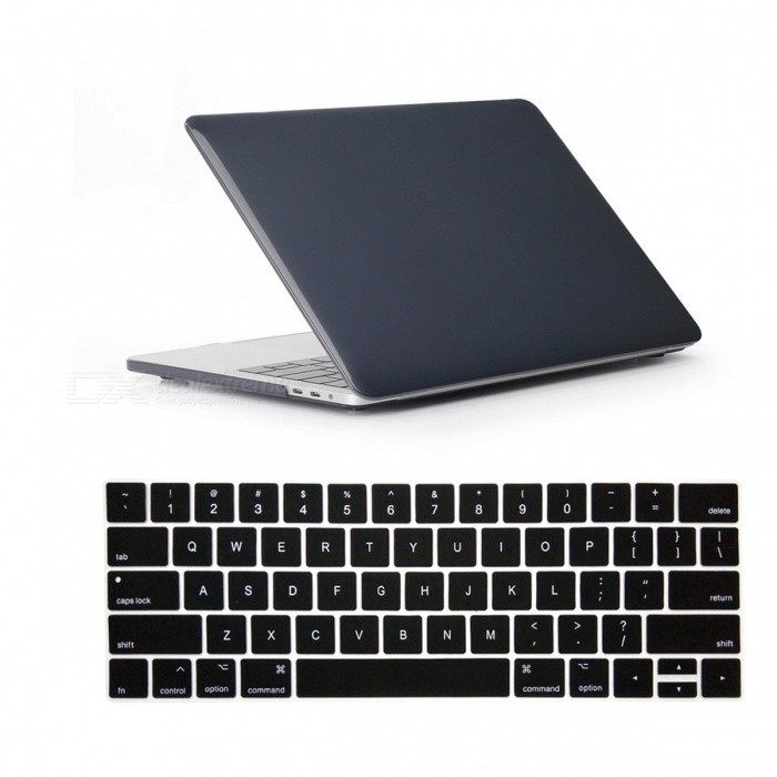 Dayspirit Crystal Case + Keyboard Cover for MacBook Pro 13.3 2016Netbook&amp;Laptop Cases<br>Form  ColorTranslucent BlackQuantity1 DX.PCM.Model.AttributeModel.UnitShade Of ColorTransparentMaterialPCCompatible BrandOthers,Macbook Pro 13.3 InchCompatible Size13.3 inchPacking List1 x Hard shell (top + bottom)1 x Keyboard cover<br>