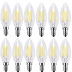 KWB C35 Retro Edison Light E14 4W ampoules LED Lampes (220 ~ 240V / 12PCS)