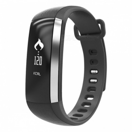 M2 Waterproof Blood Pressure Heart Rate Monitor Smart Band - Black