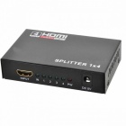 Full HD 5.1Gbps HDMI v1.4 Splitter 1X4 4-port Hub Repeater Förstärkare