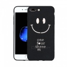 Matte Soft TPU Hollow Smiling Face Phone Case Cover for IPHONE 7 Plus