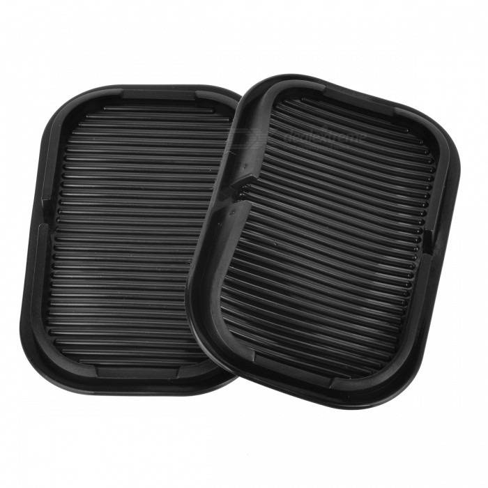 JEDX Car Dashboard Anti-Slip Sticky Pad Mats for Mobile (2Pcs) - BlackAnti-slip Mats<br>Form  ColorBlack GreyModelCZ-12MaterialPVCQuantity2 DX.PCM.Model.AttributeModel.UnitShade Of ColorBlackDimension15.5 x 10 x 2 DX.PCM.Model.AttributeModel.UnitPacking List2 x Anti-slip Mats<br>