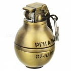 Creative Metal Grenade Windproof Lighter w/ Key Chain - Golden