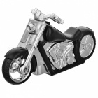Latest Creative Motorcycle Windproof Lighter w/ Light - Black