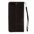 Dayspirit Lychee Grain Style Leather Case for Huawei P10 - Black