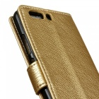 Dayspirit Lychee Grain Style  Leather Case for Huawei P10 plus -Golden