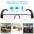 8GB 12.0MP 1080P Mini Eyewear Security Surveillance Camera - Black