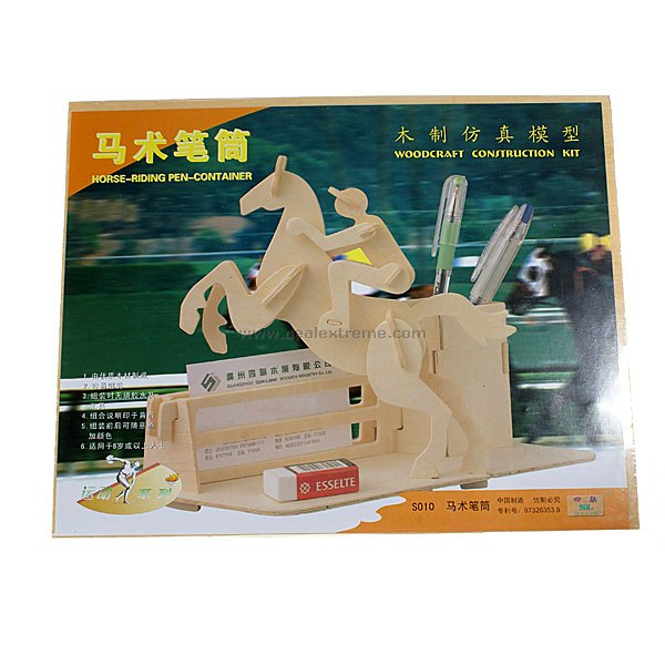 Woodcraft Construction Kit - Horse-Riding Pen Container