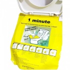Unclog Toilet 1 Minute Easy to Fix Outil de toilette obstrué - Jaune + Blanc