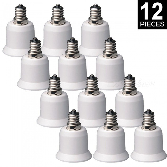 YouOKLight E12 to E26/E27 Light Lamp Bulb Adapter Converters, 12PCS