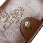 JIN BAO LAI Mäns snygga Folding Split Leather Wallet - Kaffe