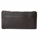 JIN BAO LAI Top Leather Cards Holder Hasp Wallet Purse - Coffee