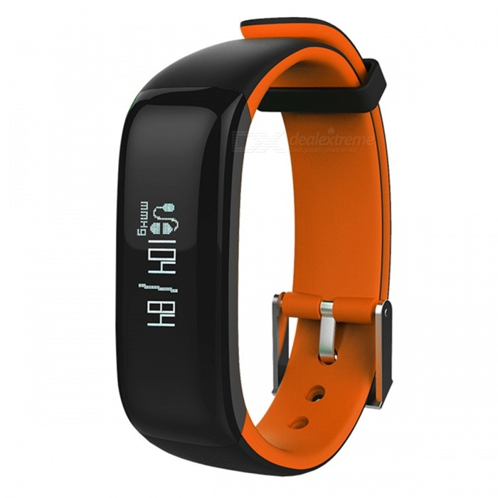 Eastor P1 IP67 Blood Pressure Heart Rate Monitor Smart Band - Orange