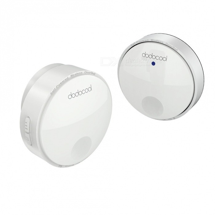 dodocool Self-powered Battery-free Wireless Doorbell Kit (US Plugs)