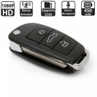 1080P Mini Car Key Camera w/ Infrared Night Vision - Black
