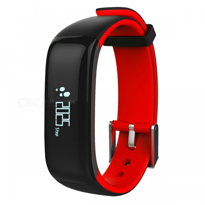 Eastor P1 Blood Pressure Heart Rate Monitor Smart Band - RedSmart Bracelets<br>Form  ColorRedModelP1Quantity1 DX.PCM.Model.AttributeModel.UnitMaterialPC + SiliconeWater-proofIP67Bluetooth VersionBluetooth V4.0Compatible OSIOS 8.0 or above, Android 4.3 or above (with Bluetooth 4.0)Battery Capacity90 DX.PCM.Model.AttributeModel.UnitBattery TypeLi-polymer batteryStandby Time10 DX.PCM.Model.AttributeModel.UnitPacking List1 x Smart Band1 x USB Cable1 x Chinese and English Manual<br>