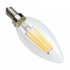 MLSLED E14 4W 4 COB 400 lm Wax White Edison Vintage LED Bulbs (2 PCS)