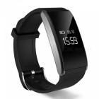 T91 Waterproof Blood Pressure Heart Rate Monitor Smart Band - Black