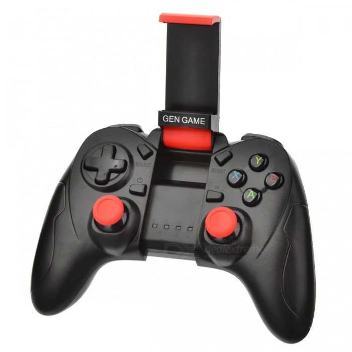 GEN GAME S6 Bluetooth Wireless Gamepad Controller - BlackGame Gadgets<br>Form  ColorBlackModelS6Quantity1 DX.PCM.Model.AttributeModel.UnitMaterialPlastic shellShade Of ColorBlackCompatible ModelsSupport iOS/android mobile phonePacking List1 x Handle1 x Charging line1 x Instruction<br>