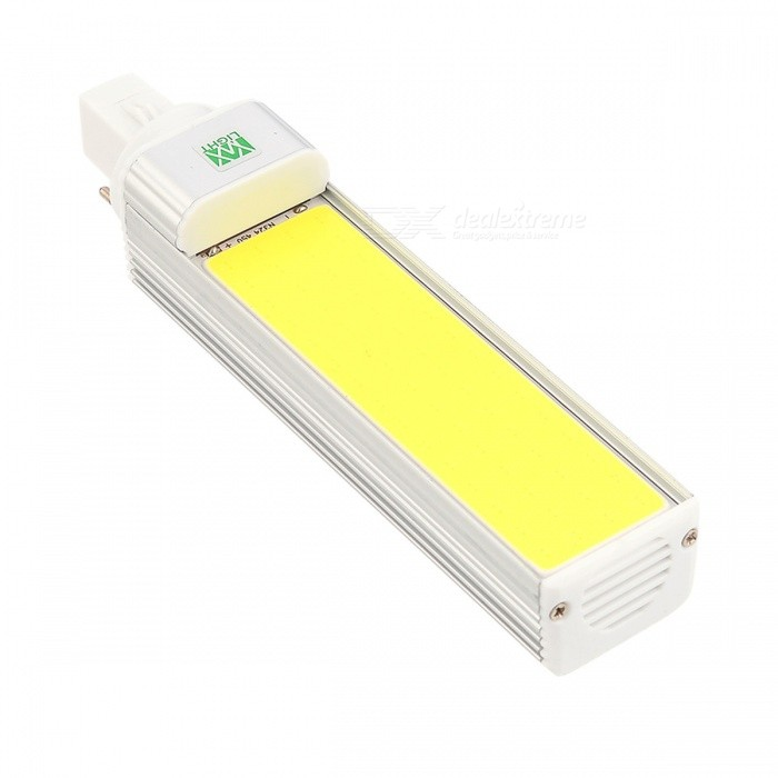 YWXLIGHT G24 COB 12W LED Cold White Horizontal Plug Light (AC 85-265V)