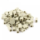 Plastic Shell 8P8C RJ45 Cat5 Network Cable Adapters - Beige (100 PCS)