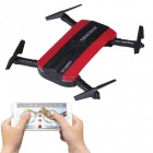 JXD 523 Wi-Fi FPV Foldable Mini Drone RC Quadcopter w/ Camera - Red