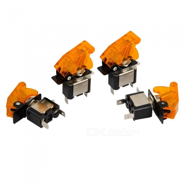 High Quality E Support Car Yellow LED Toggle Switches - Yellow (4Pcs)