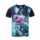 MB0161 3D Printing Warcraft Motifs T-shirt - Black + Multicolor (XL)