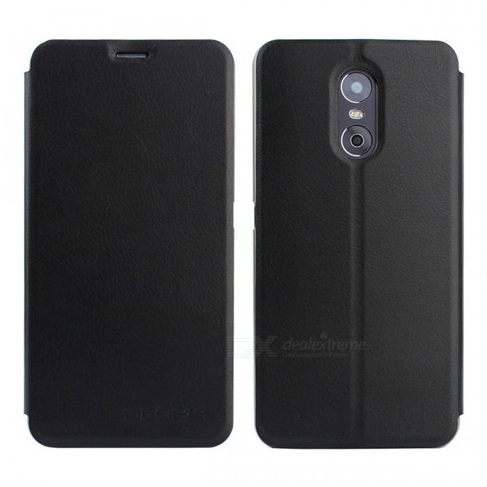 OCUBE PU Leather Flip-open Case for Ulefone Gemini Mobile Phone -BlackLeather Cases<br>Form  ColorBlackModelN/AMaterialPC + PUQuantity1 pieceShade Of ColorBlackCompatible ModelsUlefone GeminiFeaturesAnti-slip,Dust-proof,Shock-proof,Abrasion resistance,Holder functionPacking List1 x Case<br>