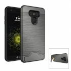 Protective PC + TPU Back Case w/ Card Slots for LG G6 - Grey