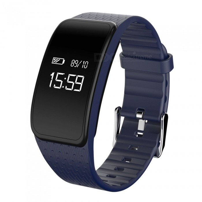 Eastor A59 Blood Pressure Heart Rate Monitor Smart Band - BlueSmart Bracelets<br>Form  ColorBlueModelA59Quantity1 DX.PCM.Model.AttributeModel.UnitMaterialPC + TPUWater-proofIP67Bluetooth VersionBluetooth V4.0Touch Screen TypeYesCompatible OSIOS 8.0 and above, Android 4.4 and above (with Bluetooth 4.0)Battery Capacity110 DX.PCM.Model.AttributeModel.UnitBattery TypeLi-polymer batteryStandby Time15~20 DX.PCM.Model.AttributeModel.UnitPacking List1 x Smart Band1 x Charging Cable1 x Chinese and English Manual<br>