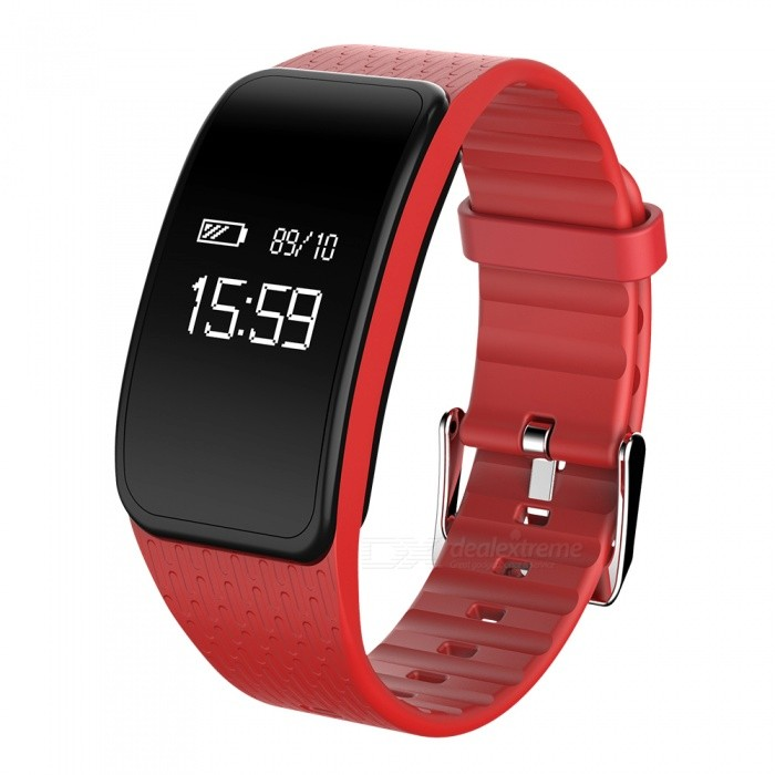 Eastor A59 Blood Pressure Heart Rate Monitor Smart Band - RedSmart Bracelets<br>Form  ColorRedModelA59Quantity1 DX.PCM.Model.AttributeModel.UnitMaterialPC + TPUWater-proofIP67Bluetooth VersionBluetooth V4.0Touch Screen TypeYesCompatible OSIOS 8.0 and above, Android 4.4 and above (with Bluetooth 4.0)Battery Capacity110 DX.PCM.Model.AttributeModel.UnitBattery TypeLi-polymer batteryStandby Time15~20 DX.PCM.Model.AttributeModel.UnitPacking List1 x Smart Band1 x Charging Cable1 x Chinese and English Manual<br>