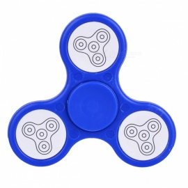 BLCR Tri-Spinner Fidget Toy EDC Hand Spinner w/ LED Light - Blue
