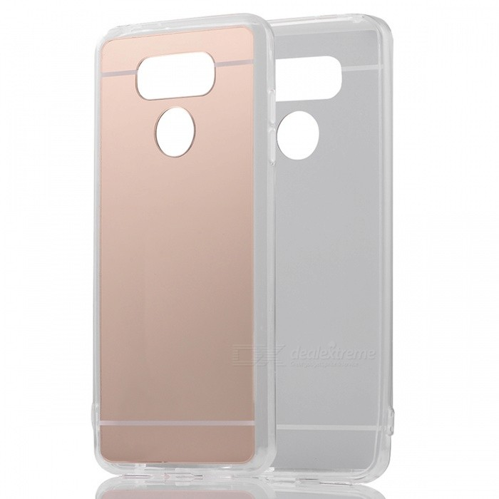 TPU + PC Mirror Back Case Cover for LG G6 - Translucent GoldenTPU Cases<br>Form  ColorGoldenModelN/AMaterialTPUQuantity1 pieceShade Of ColorGoldCompatible ModelsLG G6Packing List1 x Case<br>