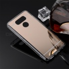 TPU + PC Mirror Back Case Cover for LG G6 - Translucent Golden