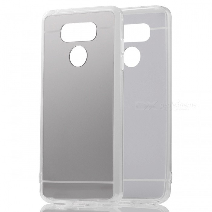 TPU + PC Mirror Back Case Cover for LG G6 - Translucent SilverTPU Cases<br>Form  ColorSilverModelN/AMaterialTPUQuantity1 pieceShade Of ColorSilverCompatible ModelsLG G6Packing List1 x Case<br>